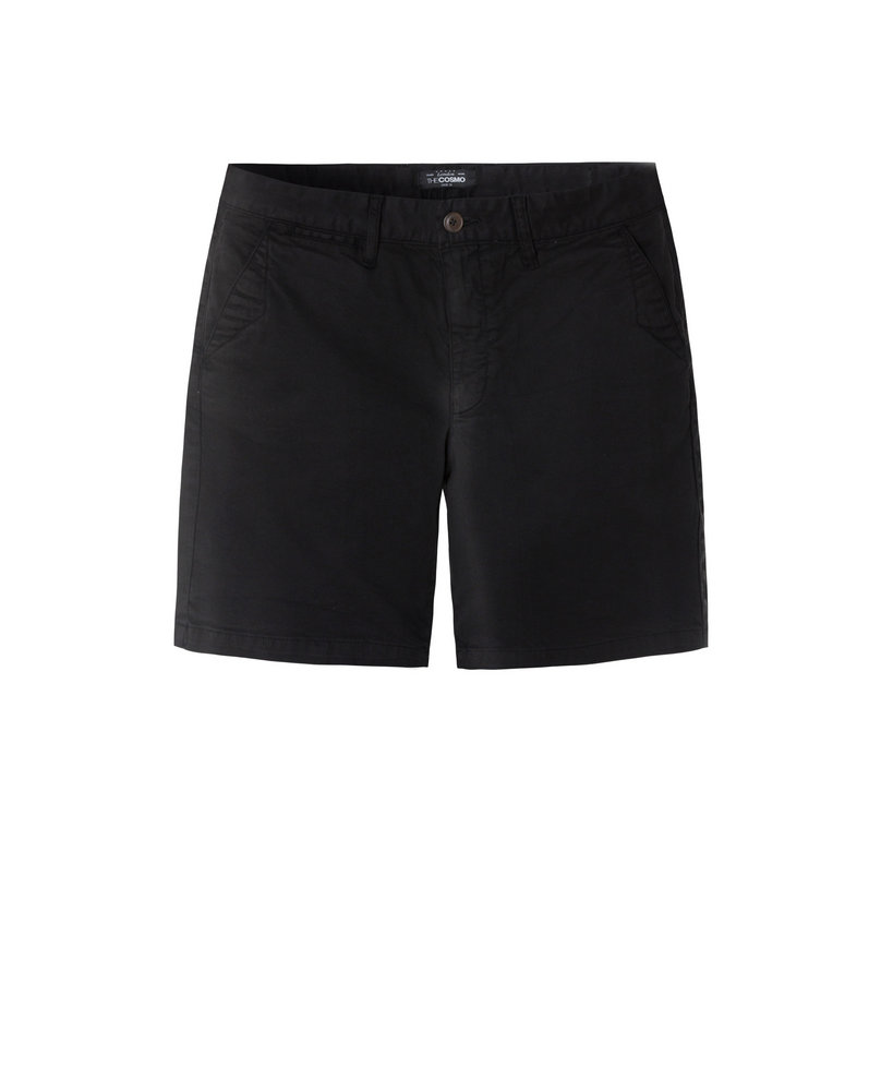 GARMENT-DYED SHORTS (BLACK)