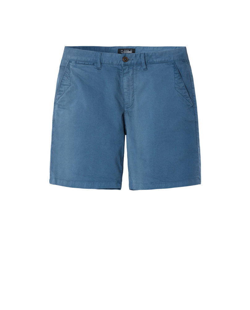 GARMENT-DYED SHORTS (PETROL BLUE)
