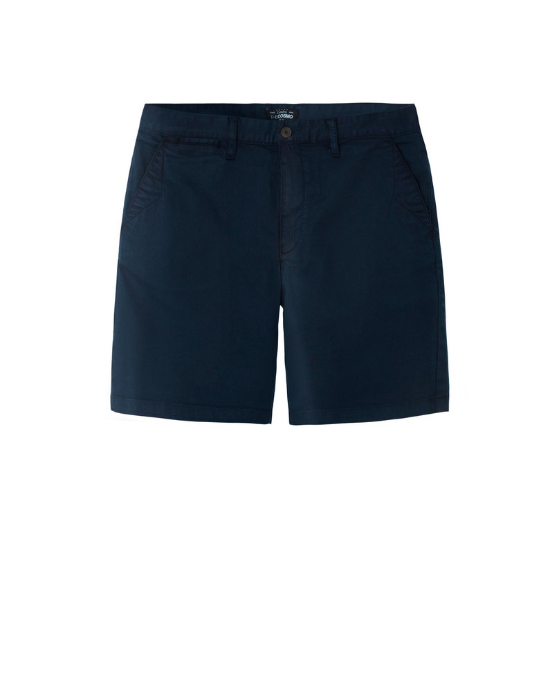 GARMENT-DYED SHORTS (NAVY)