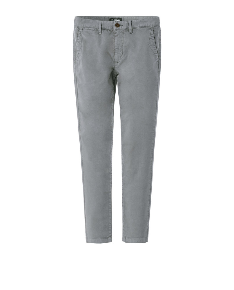 GARMENT-DYED CHINOS (GREY)