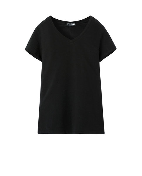 V-NECK T SHIRT (BLACK)