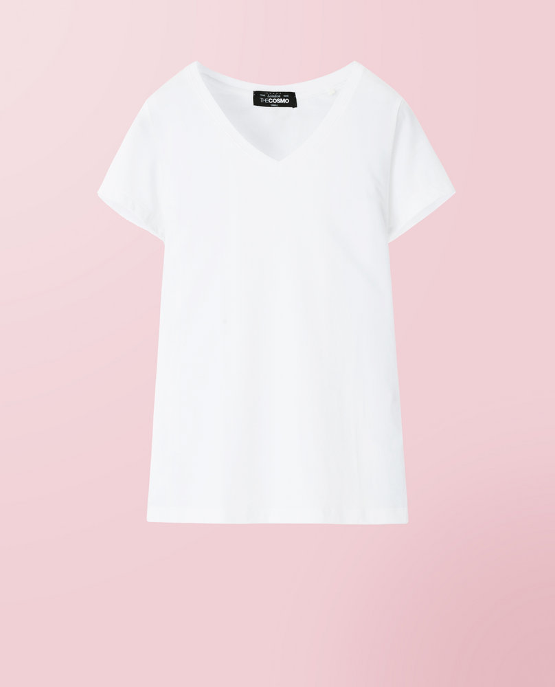 V-NECK T SHIRT (WHITE)