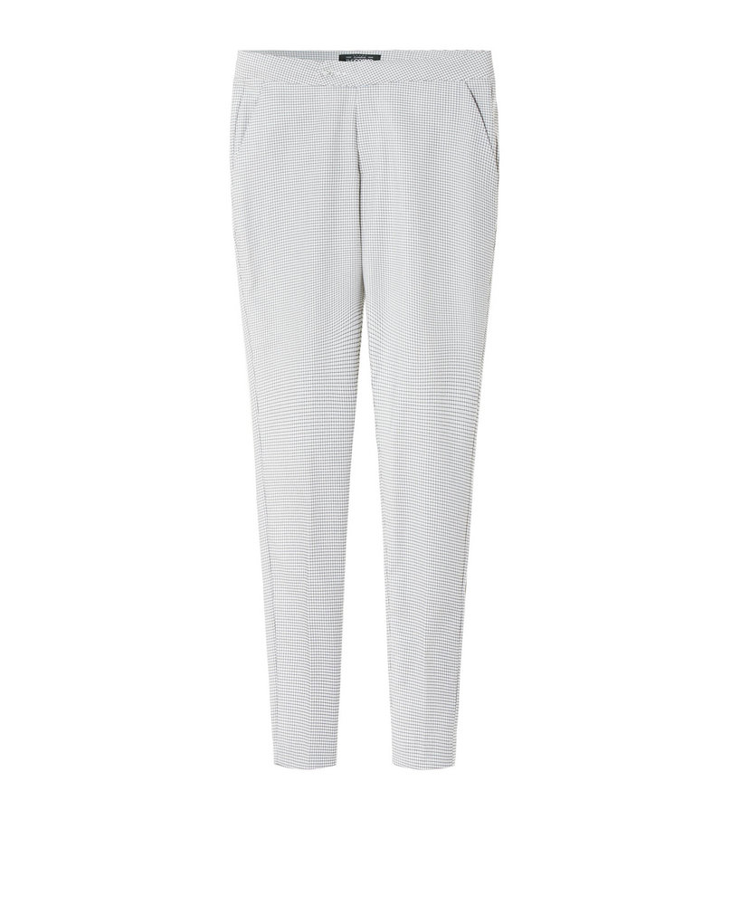 CHECKED TROUSERS (WHITE)