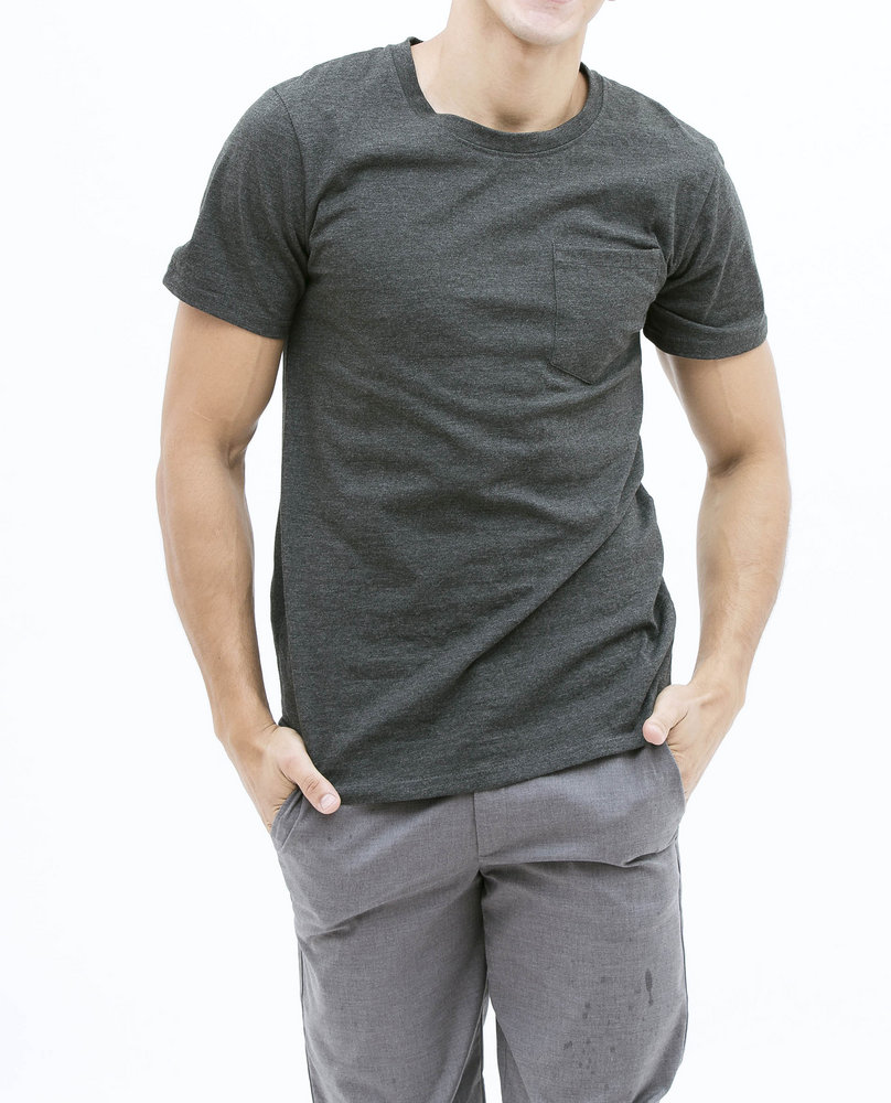 CONTRAST T-SHIRT (DARK GREY)
