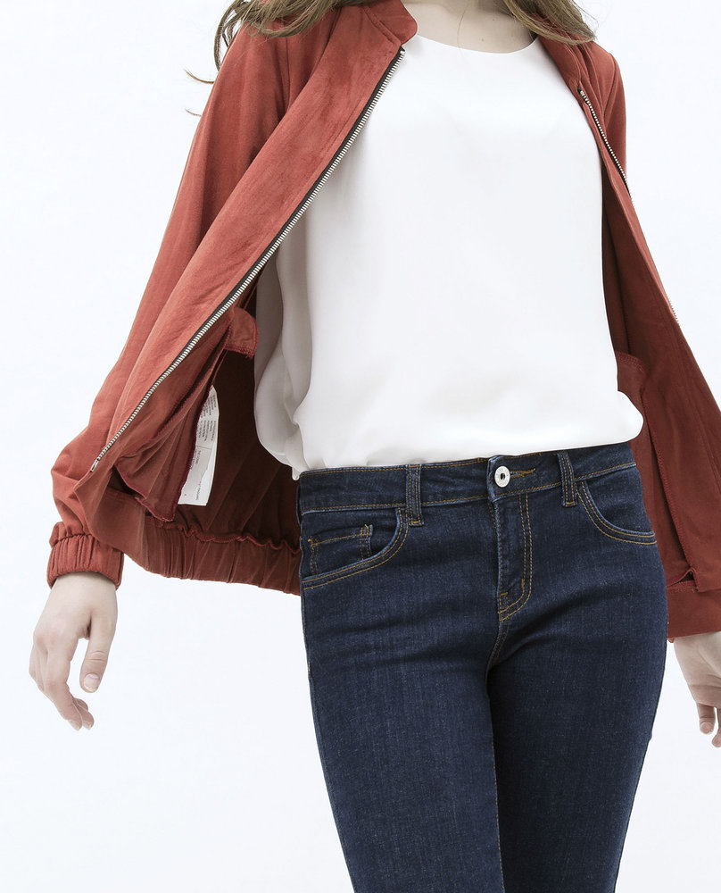 WOMEN BOMBER JACKET (PUMPKIN)