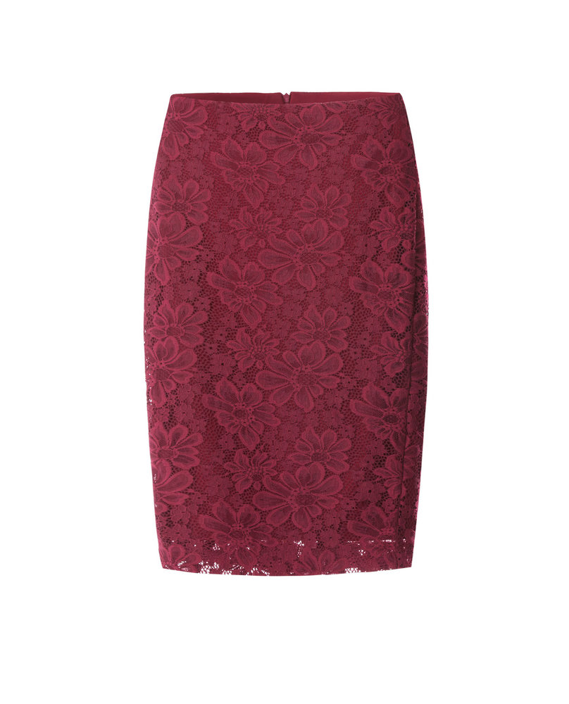 LACE SKIRT (BURGUNDY)