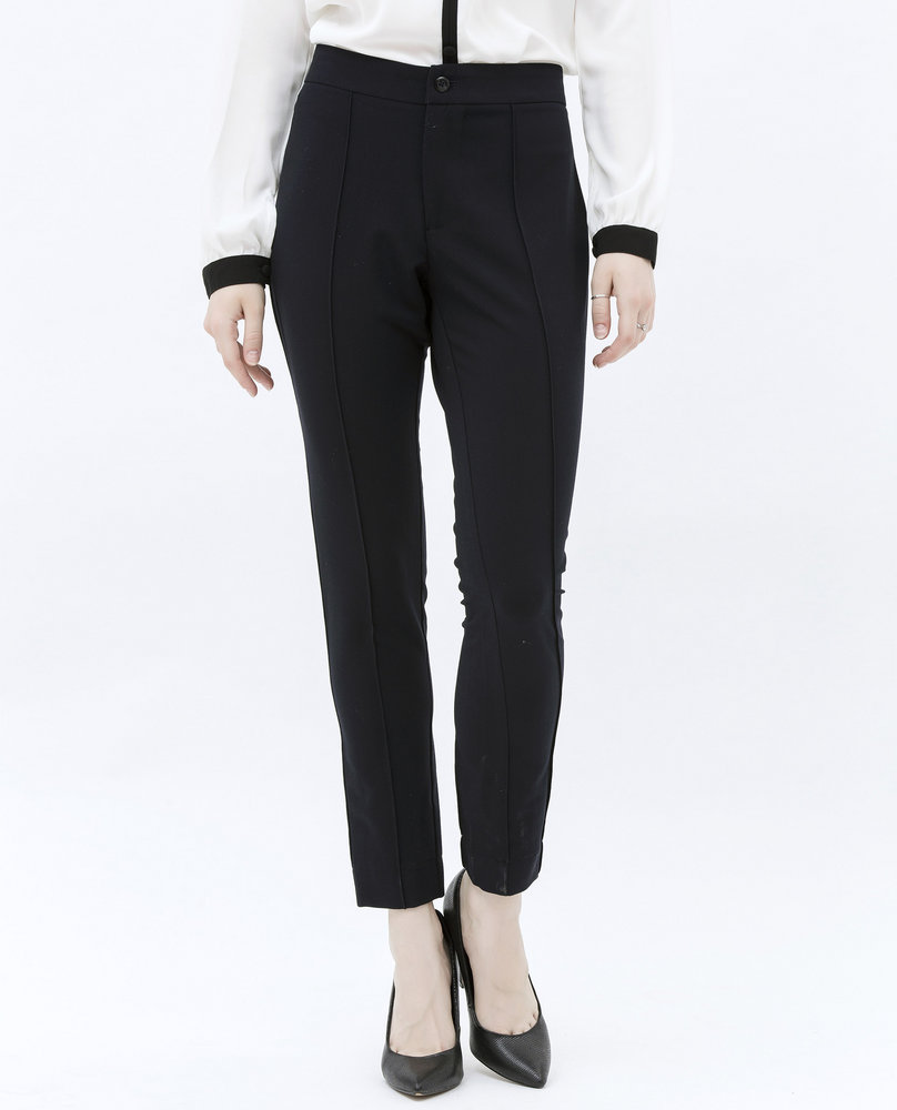 COTTON BLEND TROUSERS (BLACK)