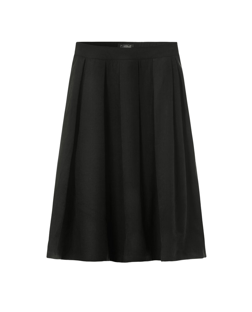 SUEDE SKIRT (BLACK)
