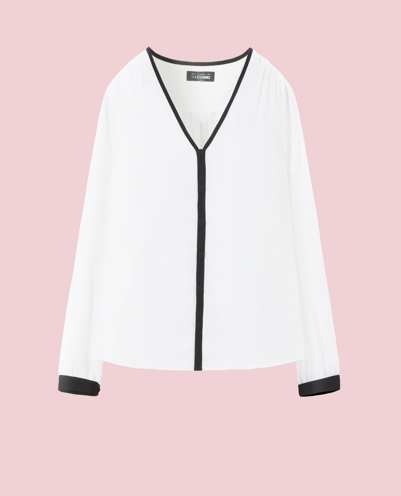 BUTTON BLOUSE (WHITE)