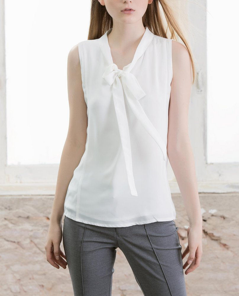 BOW TIE TOP (WHITE)