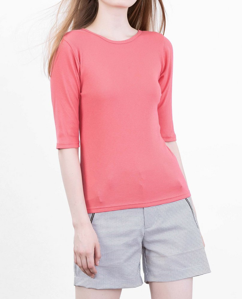 RIBBED TOP (PINK)