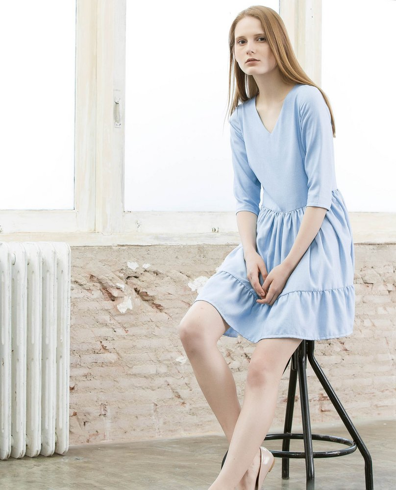 BABYDOLL DRESS (SKY)