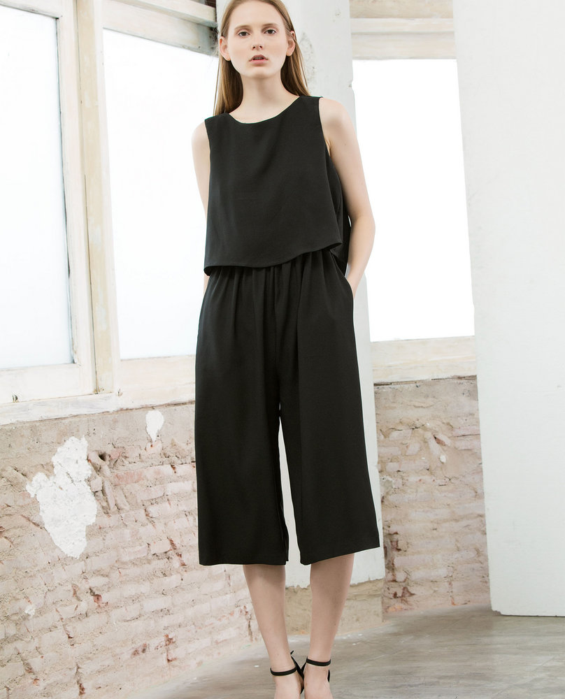 CULOTTES JUMPSUIT (BLACK)