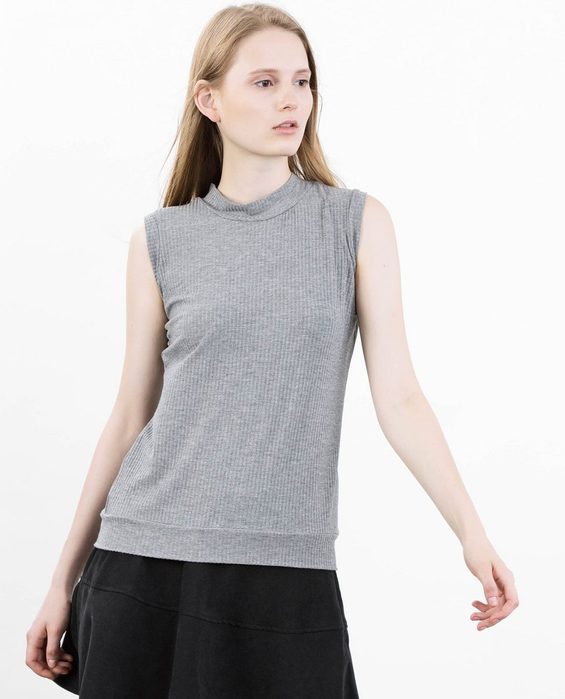 RIBBED TOP (GREY)