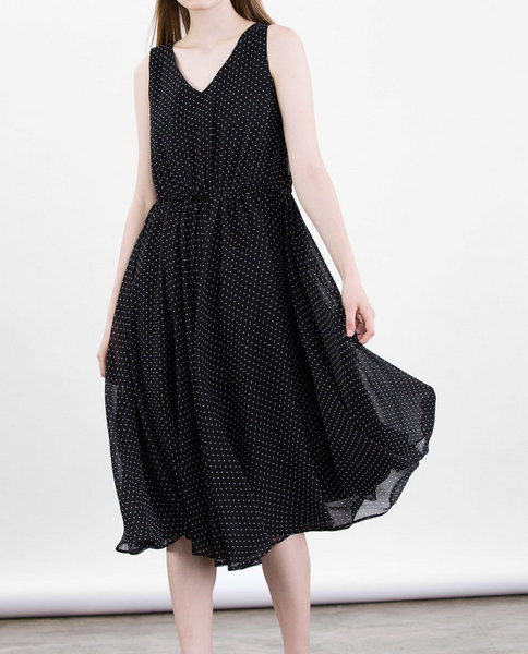 CHIFFON DRESS (STARRY)