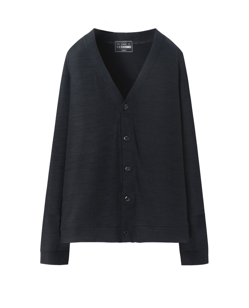 MEN CARDIGAN (BLACK)