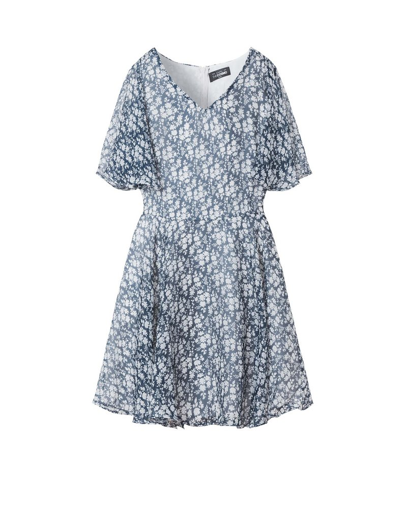 BELL SLEEVE DRESS (BLUE)