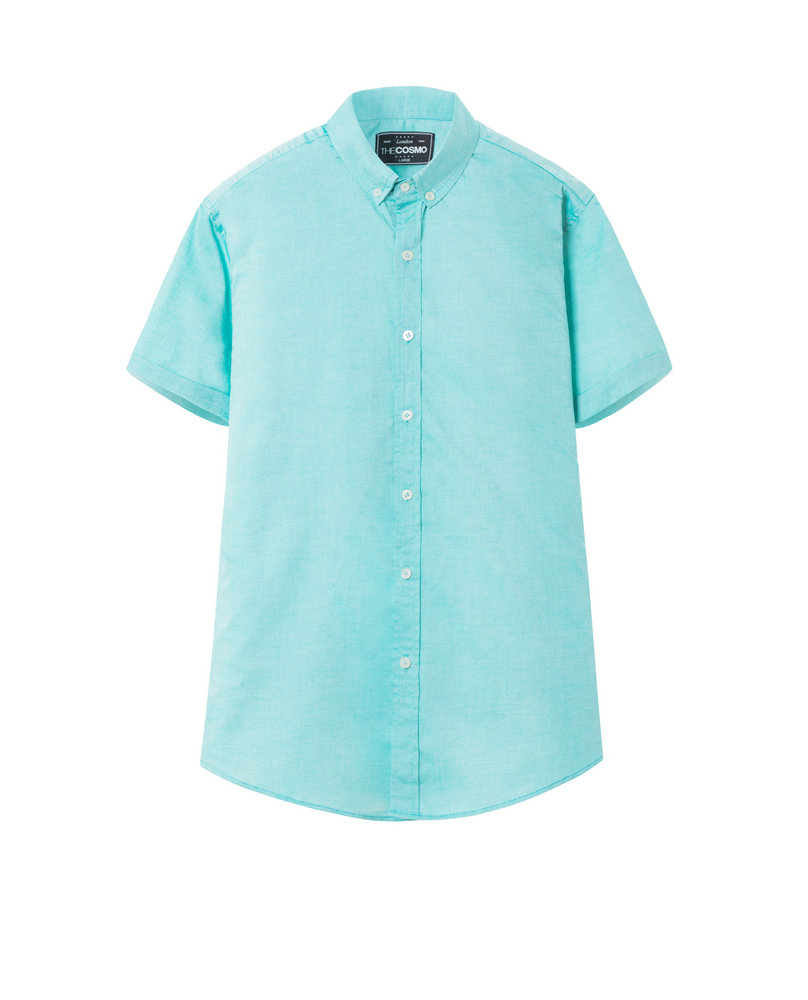 SHORT SLEEVE SHIRT (AQUA)