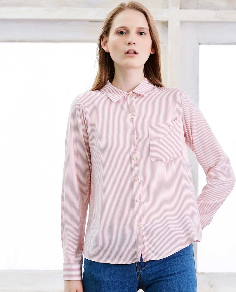 STRIPE SHIRT (CHERRY )