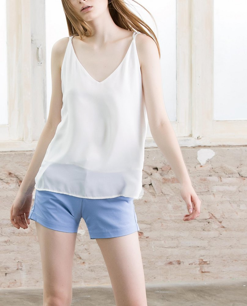 DOUBLE STRAP TOP (WHITE)