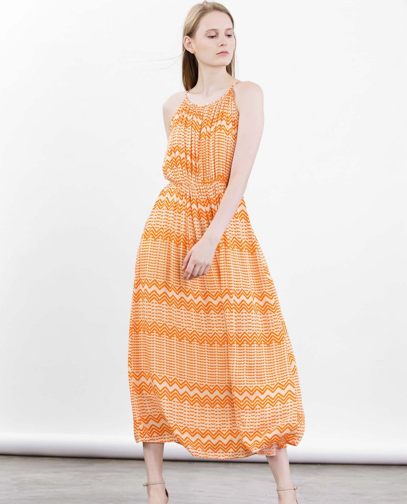 HALTER MAXI DRESS (ORANGE)