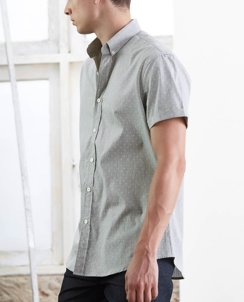 SHORT SLEEVE SHIRT (GREY)