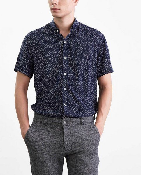 SHORT SLEEVE SHIRT (NAVY)