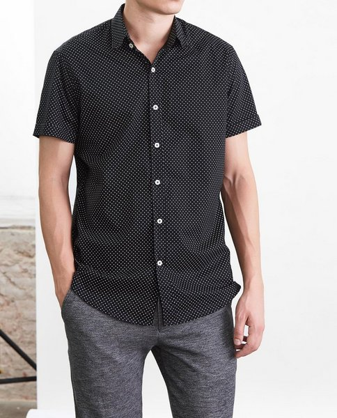SHORT SLEEVE SHIRT (BLACK)
