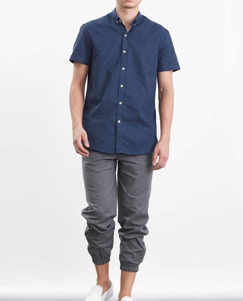 MEN SHORT SLEEVE SHIRT (NAVY)