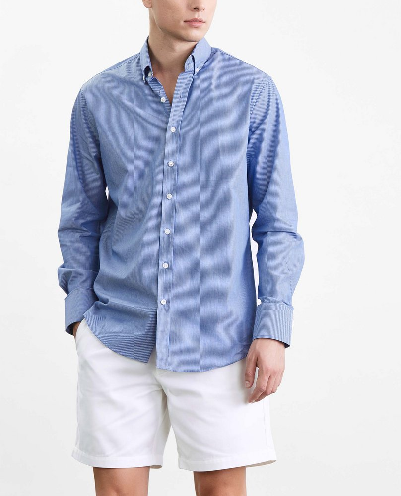 MEN STRIPE SHIRT (BLUE)