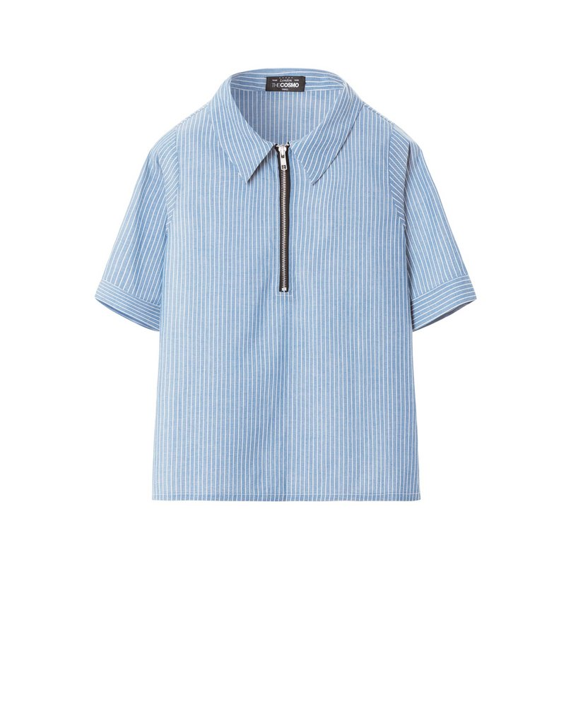 ZIP SHIRT (BLUE)