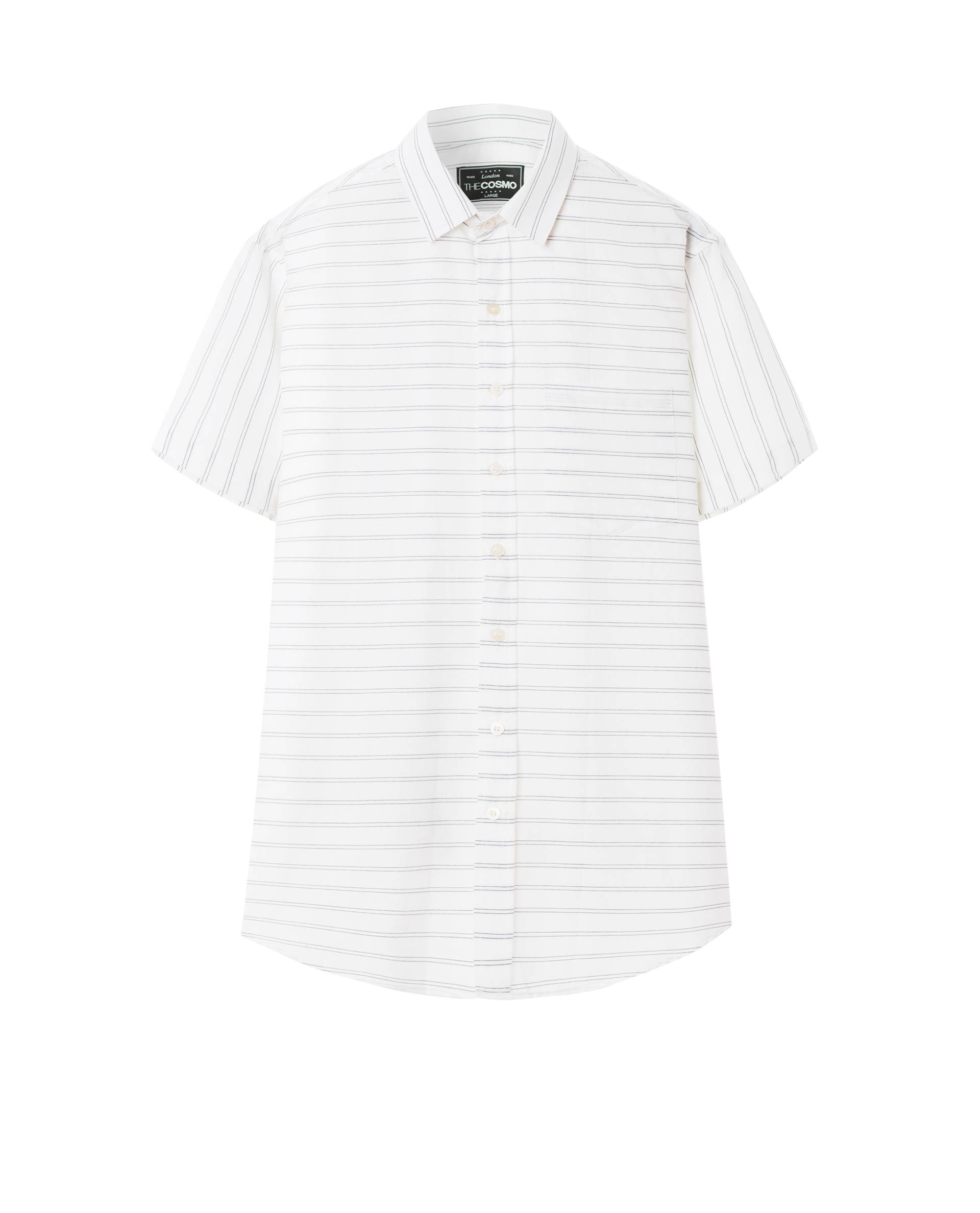 SHORT SLEEVE STRIPE SHIRT (WHITE)