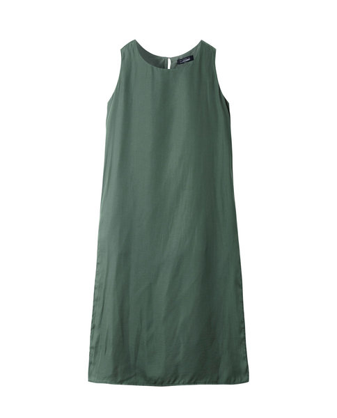 FLOWY SLIT DRESS (MOSS)