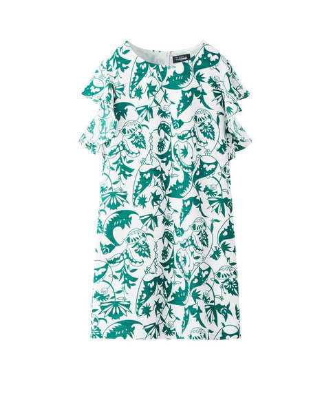 RUFFLE DRESS (PALM)