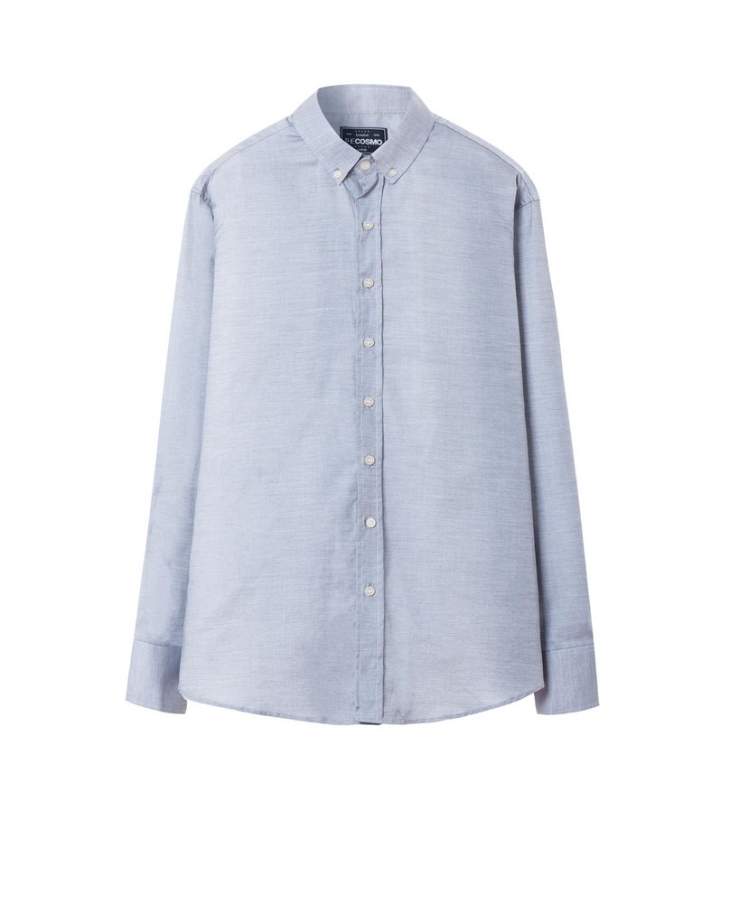 MEN STRIPE SHIRT (GREY)
