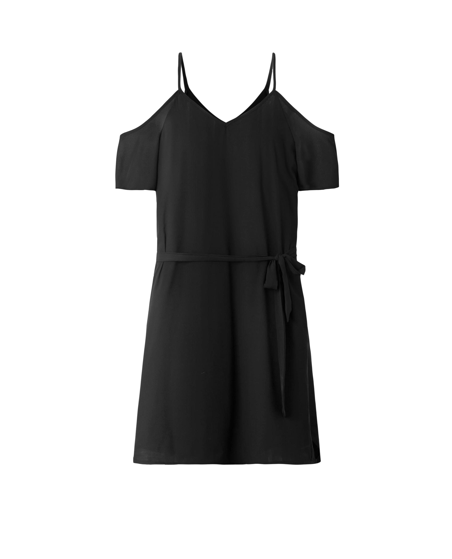 COLD SHOULDER DRESS (EBONY)