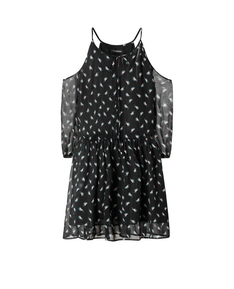COLD SHOULDER DRESS (BIRD)