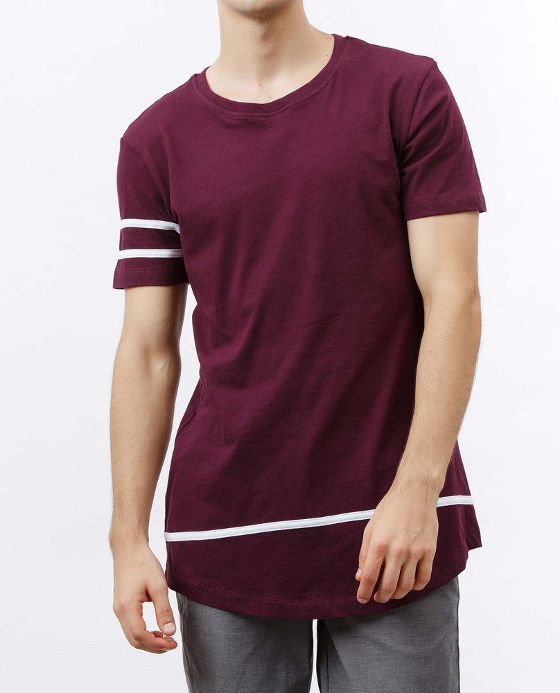 STRIPE TEE (GRAPE)