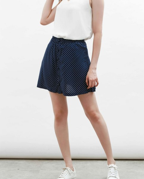 POLKA DOT SKIRT (NAVY)