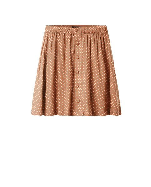 POLKA DOT SKIRT (CORAL)