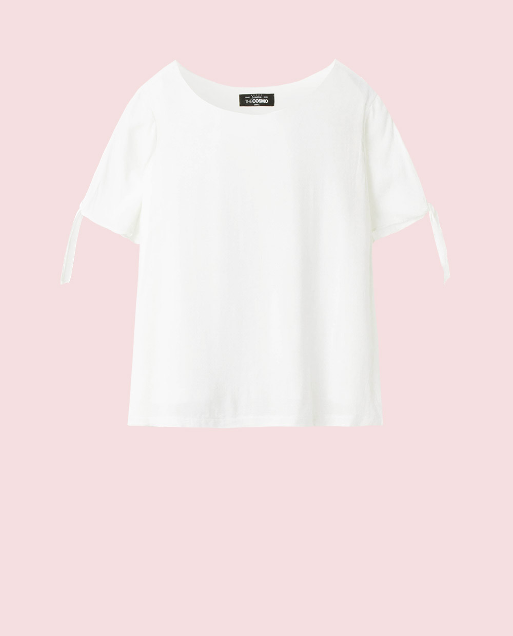TEE WITH A BOW (WHITE)