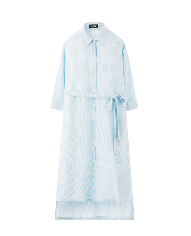 LONG SHIRT DRESS (SKY)