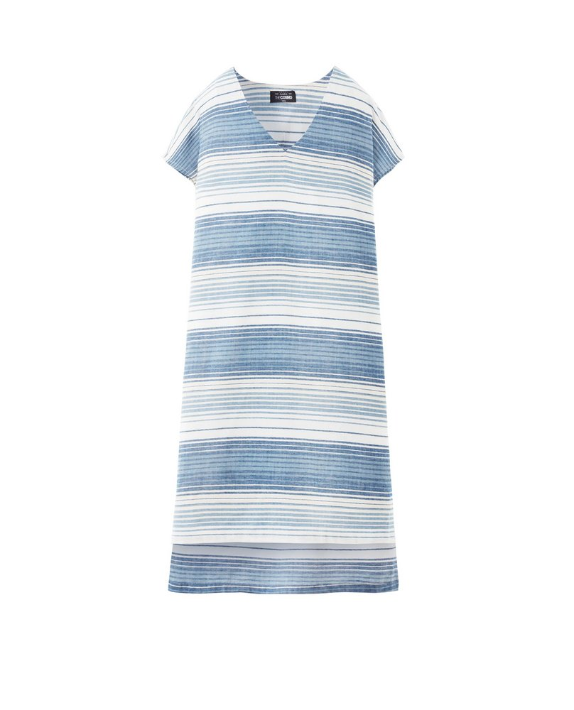 STRIPE DRESS (SKY)