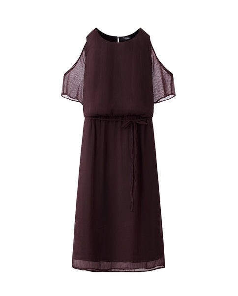 COLD SHOULDER MAXI (PLUM)
