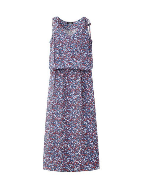 V-NECK MAXI DRESS (BLUE)