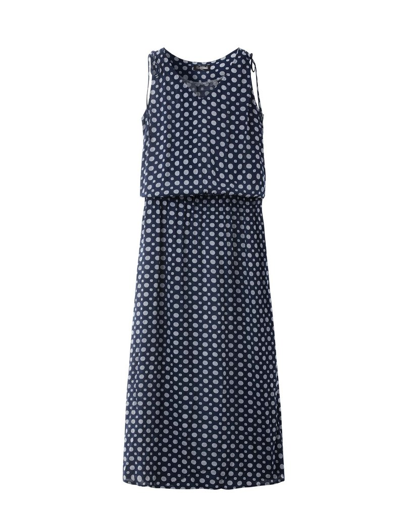 V-NECK MAXI DRESS (NAVY)