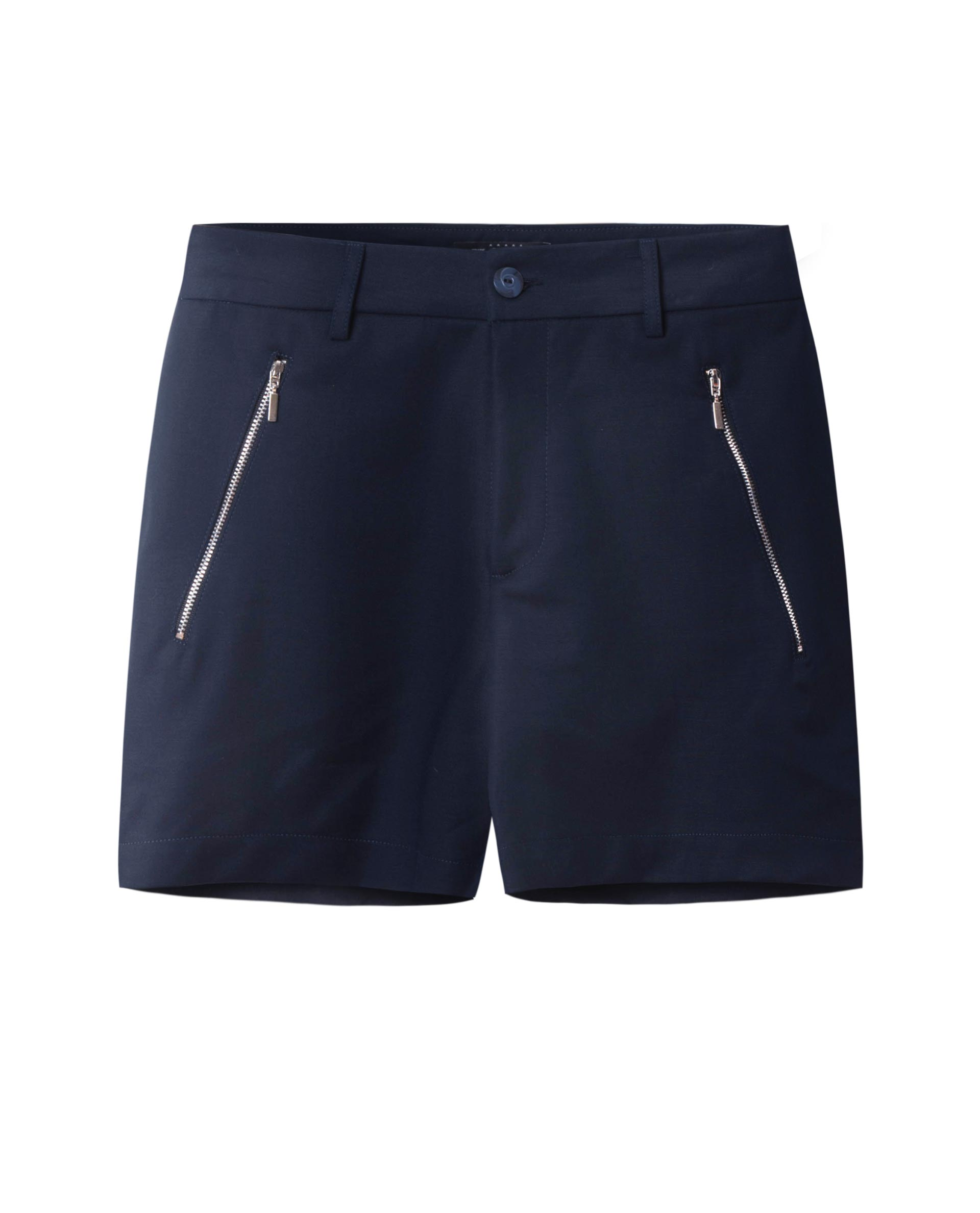 SHORTS WITH ZIP (BLACK)