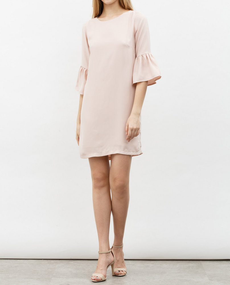 BELL SLEEVE DRESS (PINK)