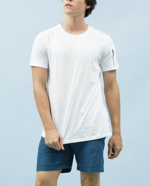 T-SHIRT WITH ZIP (WHITE)
