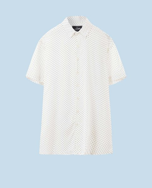 PRINTED VISCOSE SHIRT (WHITE)
